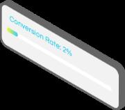 3d web design conversion screen