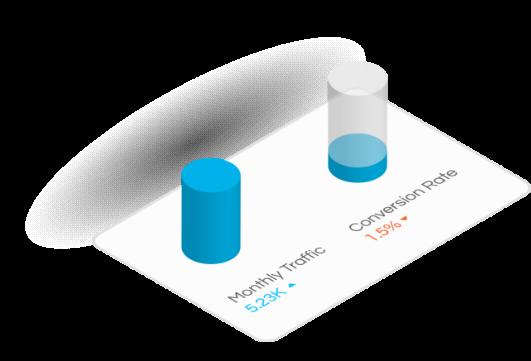 website traffic vs conversions