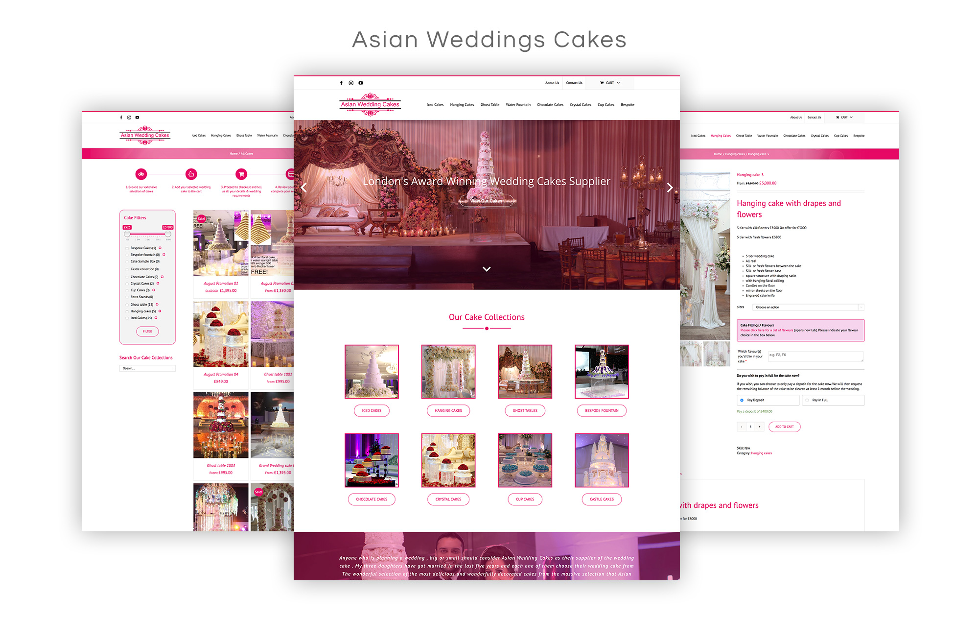 Asian Wedding Cakes Website