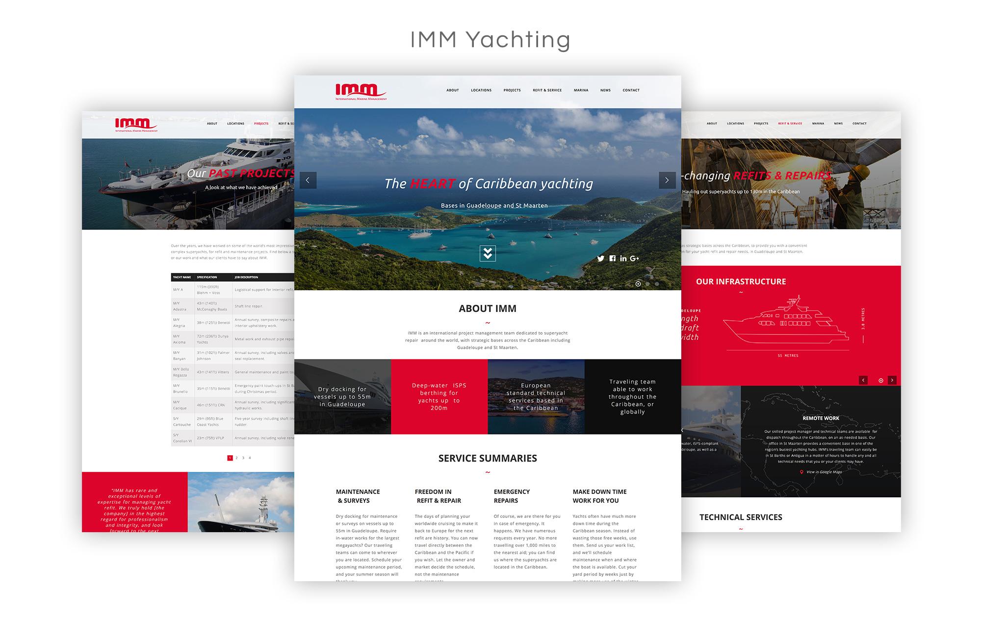 IMM Yachting Website