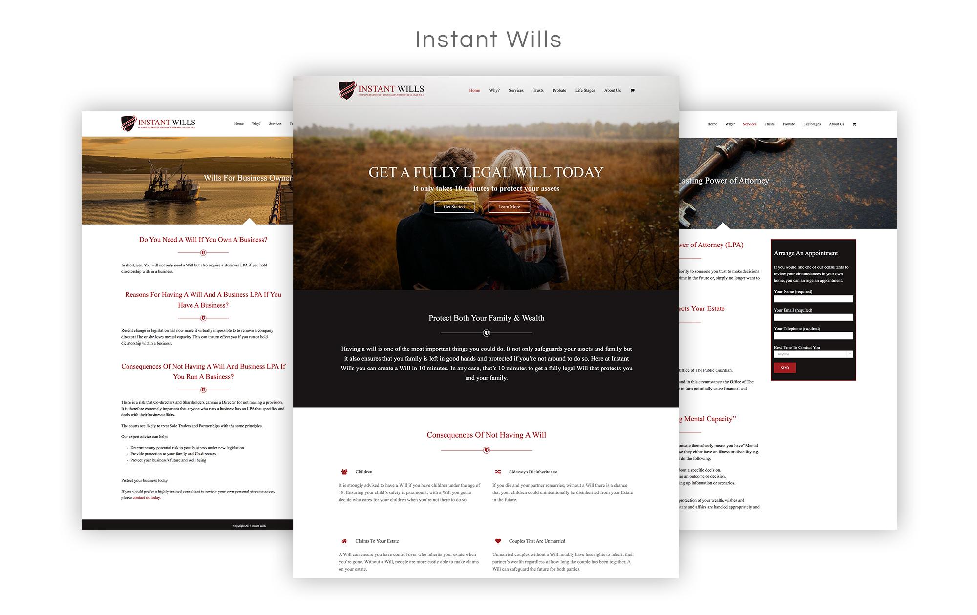 Instant Wills Website