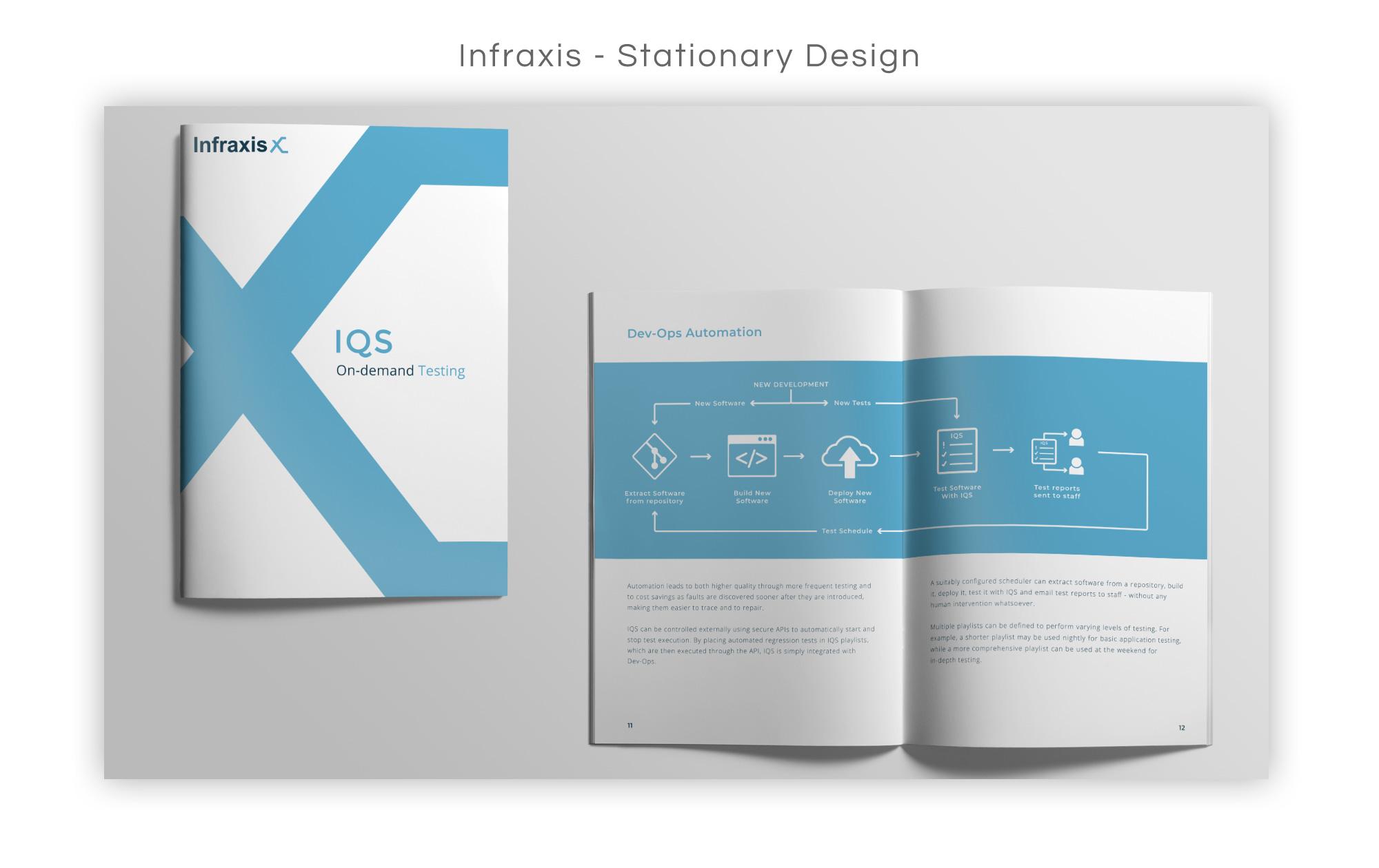 Infraxis Brochure Design