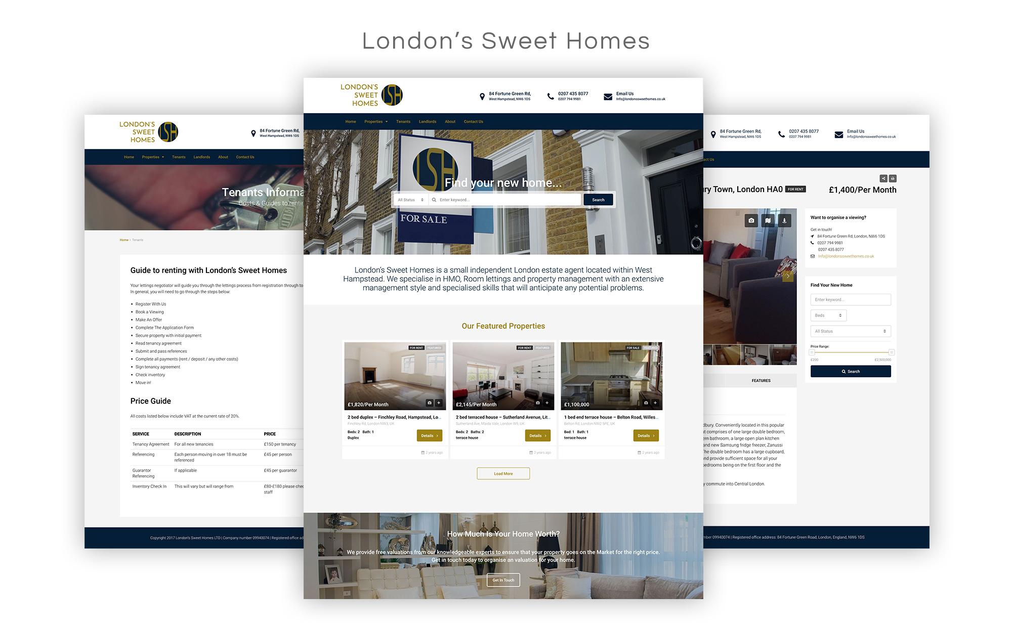 Londons sweet homes Website