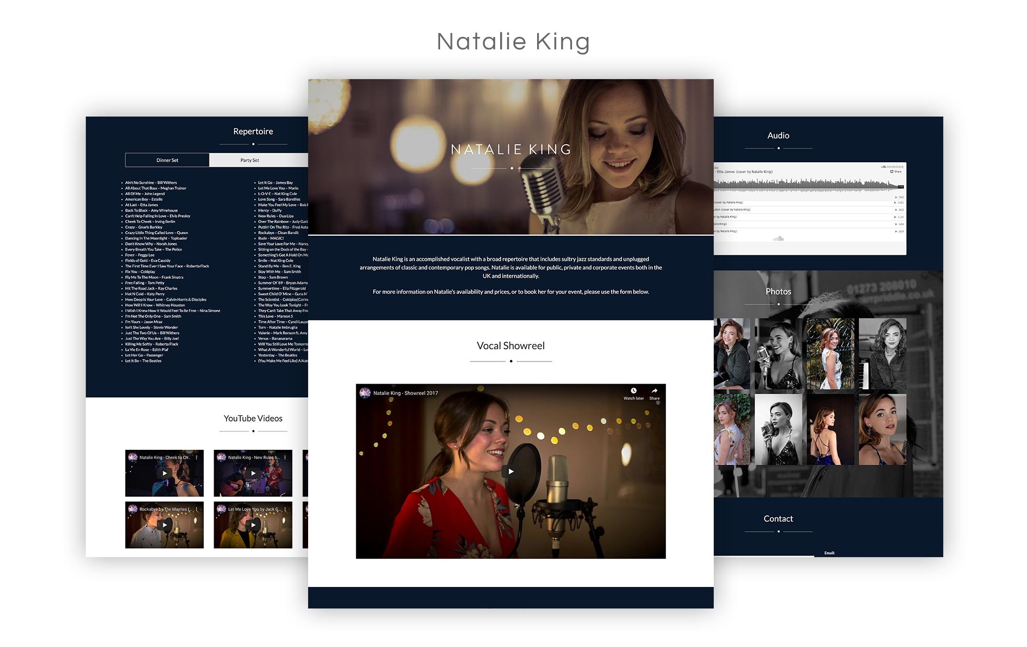 Natalie King Website