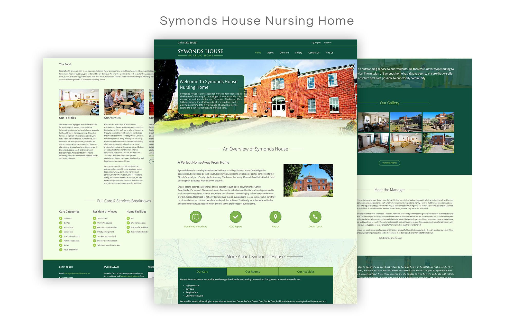 Symonds House Nursing Home Website