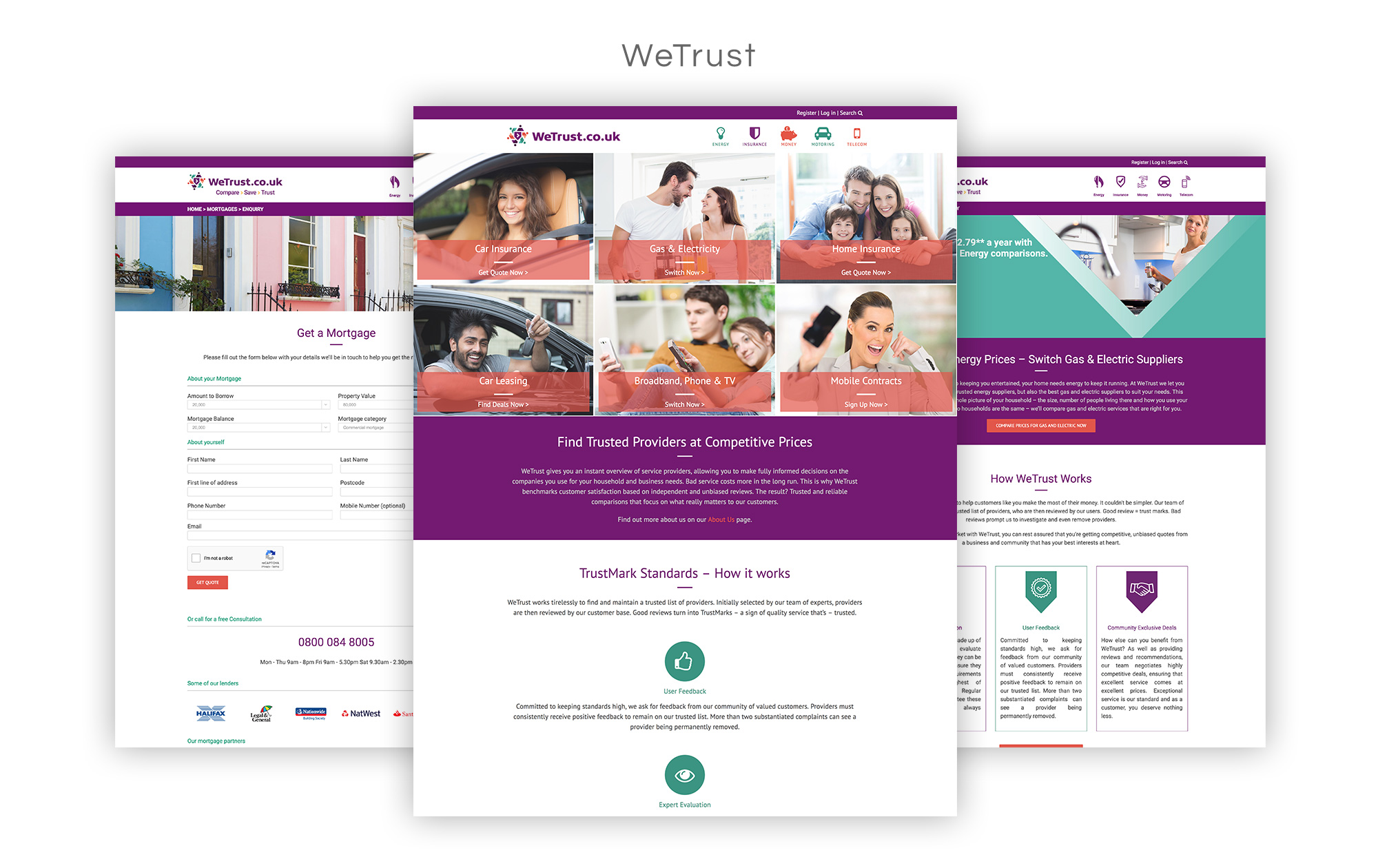 wetrust.co.uk Website